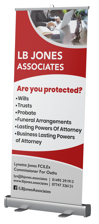 LB Jones Associates Pop Up Banner